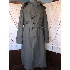 VTG 70s Christian Dior monsieur  trench coat sz 40